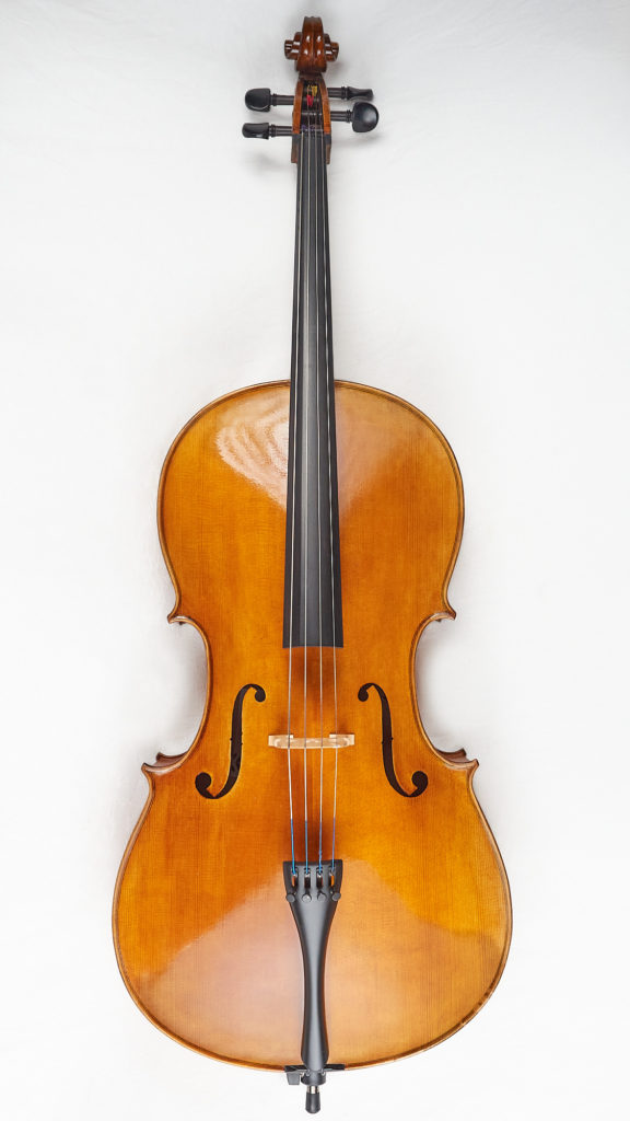 Front of New Cello
