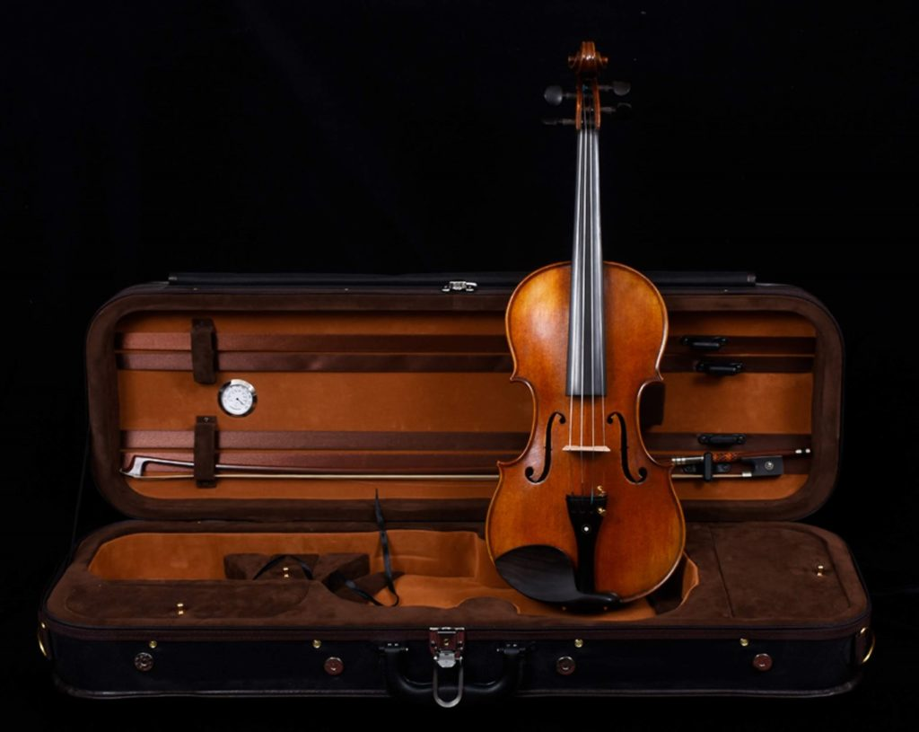violin and bow in case 3