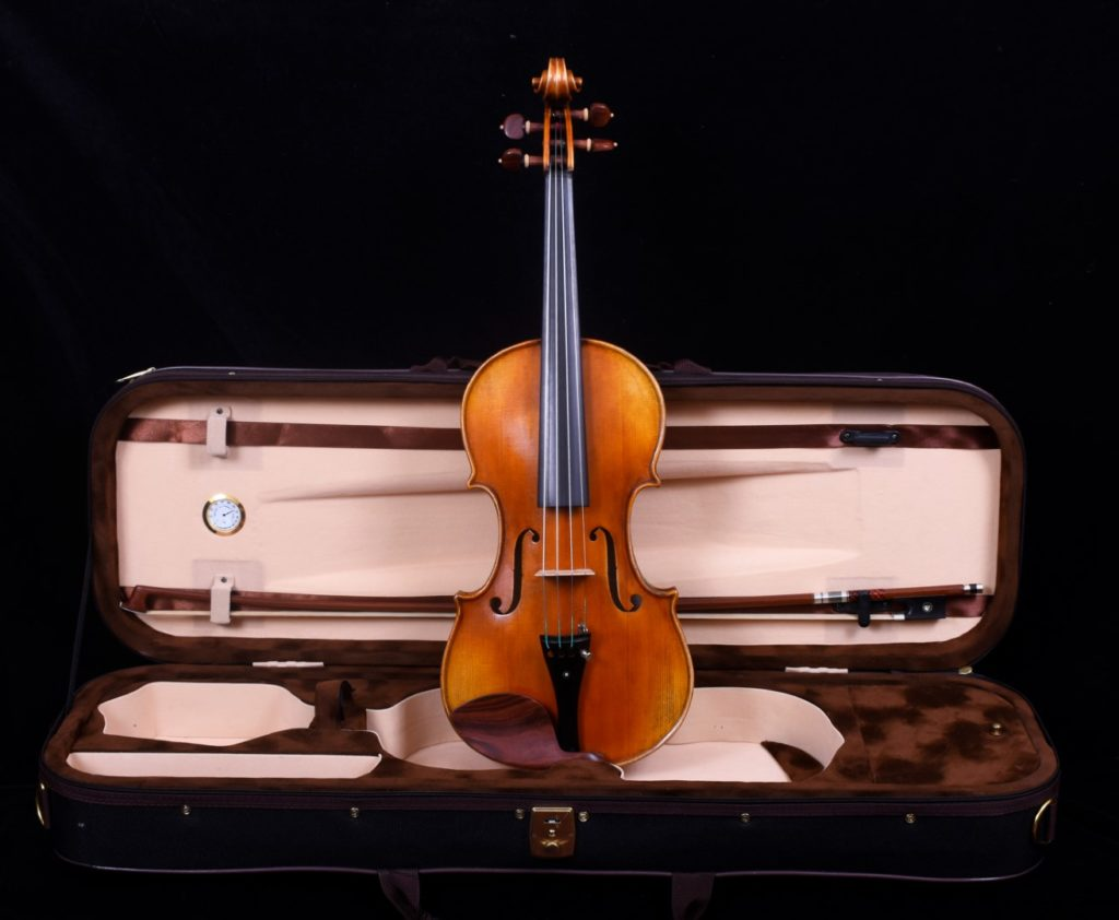 violin and bow in case 2