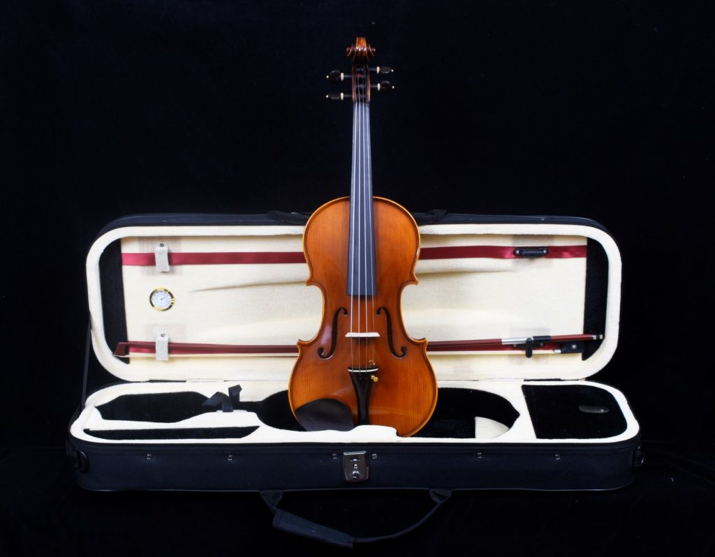 violin and bow in case 1