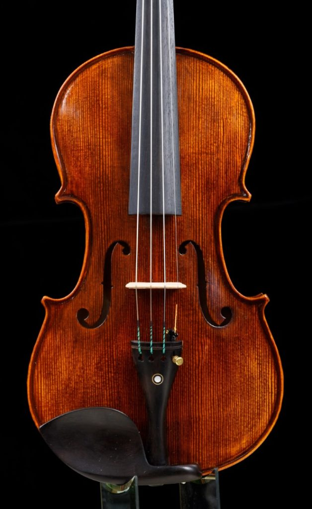 front of violin
