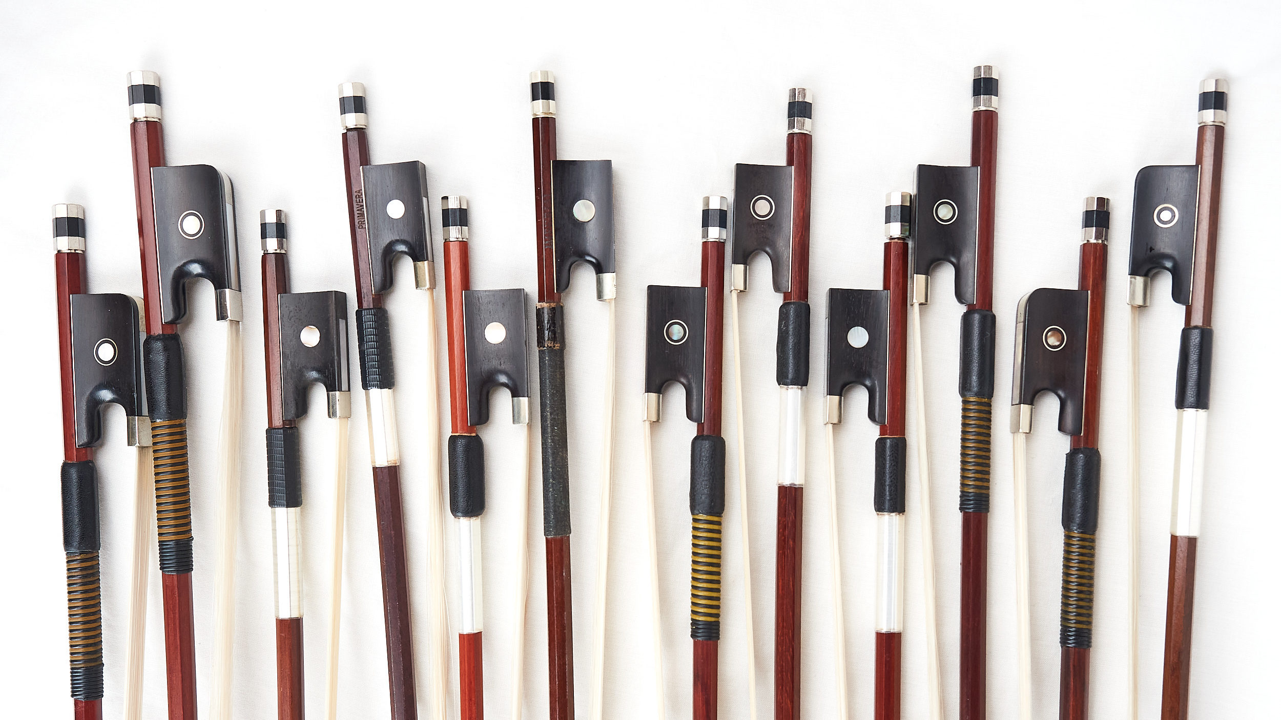 violin, viola and cello bows