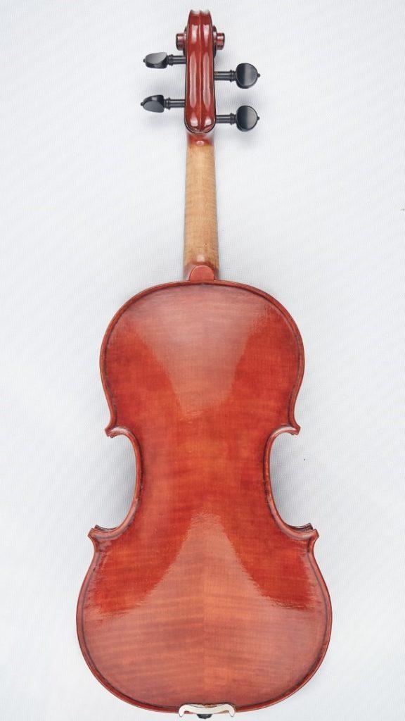 back of new violin